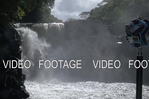 Making 360 degree video with waterfall scene