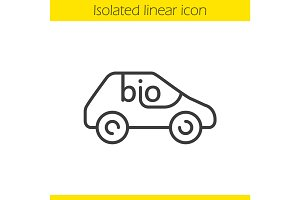 Bio car linear icon
