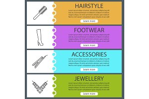 Women's accessories banner templates set