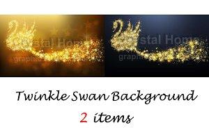 Twinkle swan background set