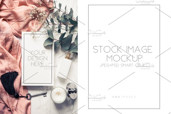 Download Book mockup with flowers.