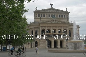 Alte Oper and Opera Square with fountain in Frankfurt, Germany