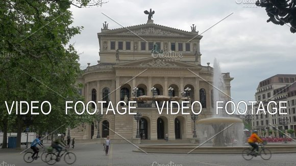 Alte Oper And Opera Square With Fountain In Frankfurt Germany