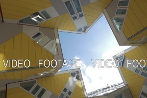 Cube Houses in Rotterdam, rotating shot