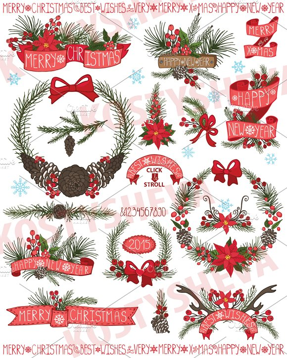 Christmas ,New Year Wreath,ribbons