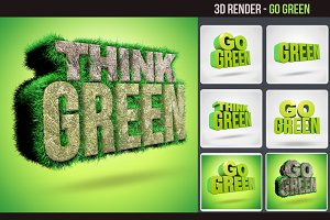 Go Green 3d Render