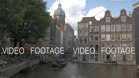 Amsterdam City Scene With Basilica Of Saint Nicholas Netherlands