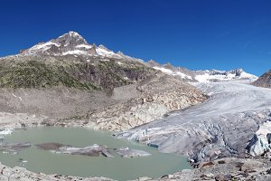 Pano of Rhone glacier, Switzerland
