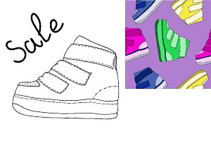 Sport shoe illustration