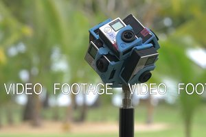 Shooting 360 degrees video with six GoPro cameras
