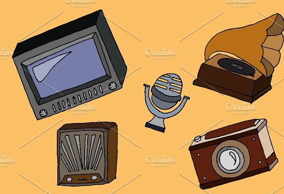 Different Kind Of Vintage Devices