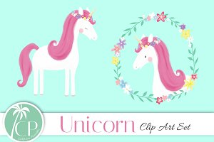 Unicorn Clip Art Set