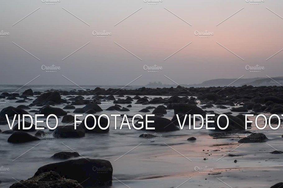 Timelapse of sea waves washing the coast