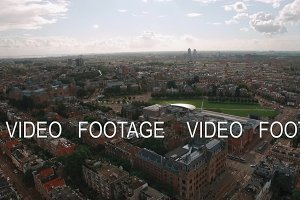 Panorama of Amsterdam, aerial view