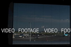 Timelapse of night, morning and day in Amsterdam airport