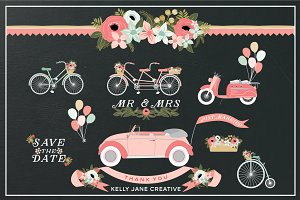 Wedding Wheels - Pink