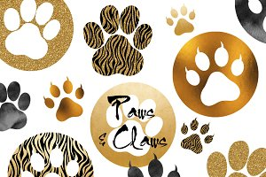 Paws & Claws Clipart Set