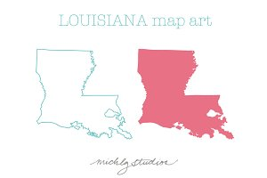 Louisiana VECTOR & PNG map clipart