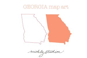 Georgia VECTOR & PNG map art