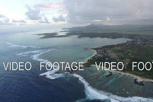 Aerial panorama of Mauritius Island