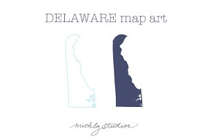 Delaware VECTOR & PNG map art