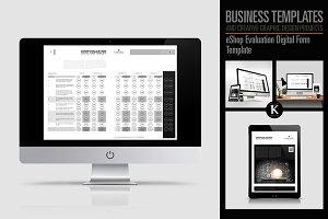 eShop Evaluation Digital Form