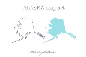 Alaska VECTOR & PNG map clipart