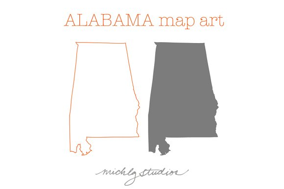 Alabama VECTOR & PNG map clipart
