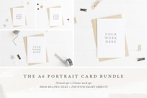 BUNDLE: 12 x A6 card mock ups - Pt