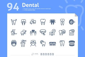 Dental Premium Vector Icons