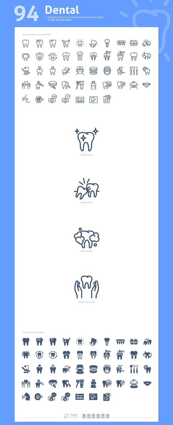 Dental Premium Vector Icons