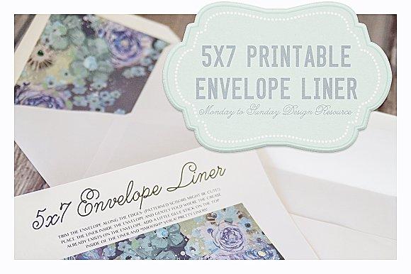 save 50 5x7 handy envelope liners invitation templates creative