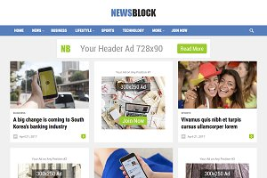NewsBlock - WordPress Magazine Theme