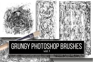 Grungy Photoshop brushes vol. 1