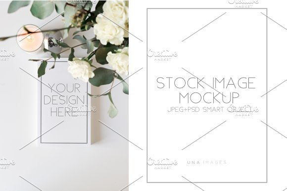 Free Notepad mockup with candle.