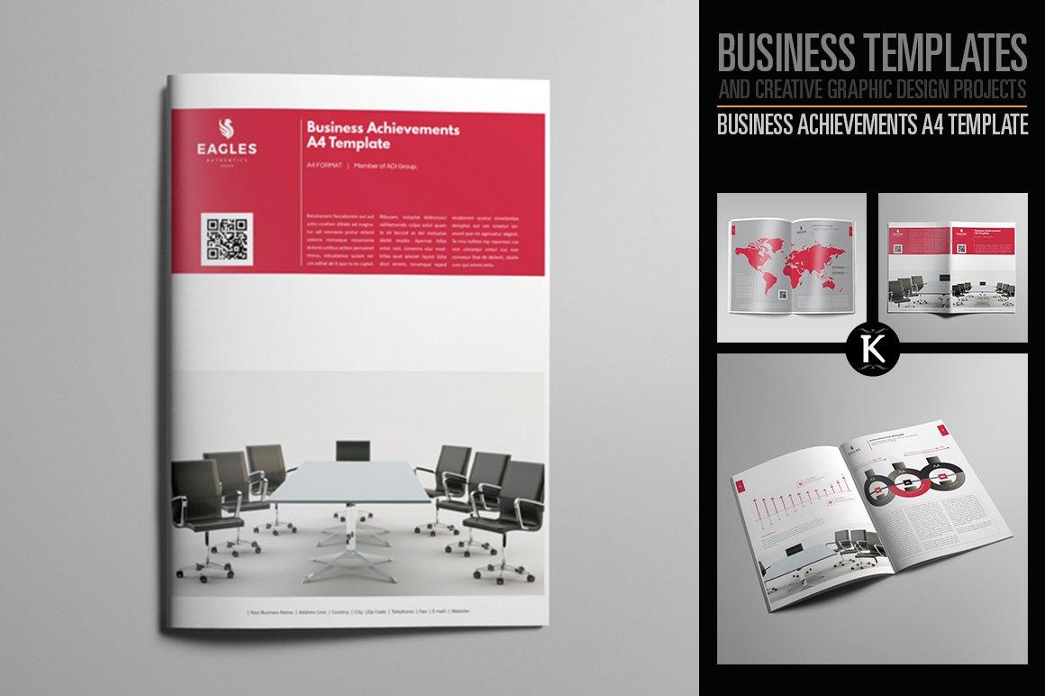 Business Achievements A4 Template ~ Templates ~ Creative Market