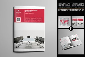 Business Achievements A4 Template