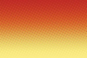 Red yellow pop art halftone background