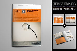 Business Presentation A4 Template