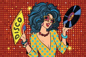 Disco diva retro lady