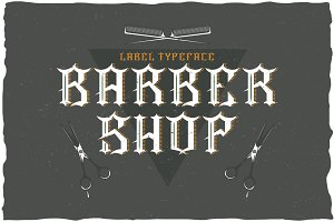 Barber Label Typeface