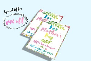 Mother's Day Watercolor Flyer