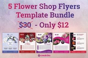 5 Flower Shop Flyers