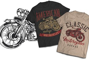 Motorcycle Vintage T-shirts Labels