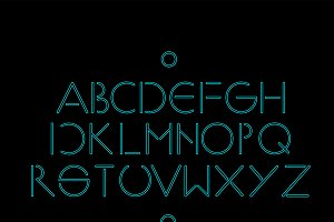 Minimalistic simple neon font vector