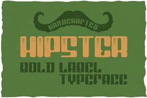 Hipster Label Typeface