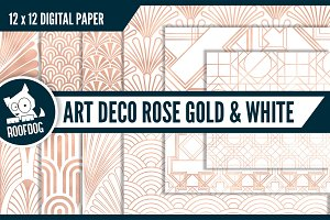 Art deco—Rose gold and white
