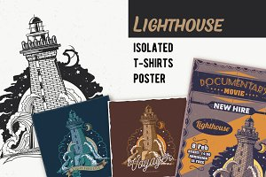Lighthouse T-shirts Labels