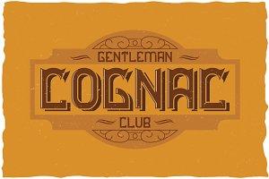 Cognac Label Typeface