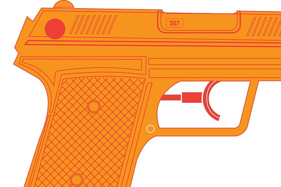 Water Gun / Water Pistol in Illustrations - product preview 1